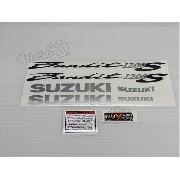 Jogo Faixa Emblema Adesivo Suzuki Bandit 1200s 2006 Prata