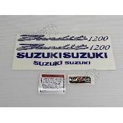 Jogo Faixa Emblema Adesivo Suzuki Bandit 1200n 2001 Prata