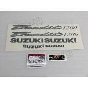 Kit Jogo Faixa Emblema Adesivo Suzuki Bandit 1200n 2002 Azul