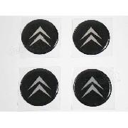 Adesivo Emblema Resinado Roda Citroen 55mm Cl3