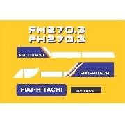 Kit Adesivos Fiat Hitachi Fh 270