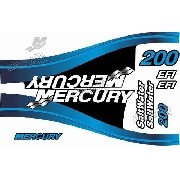 Adesivo Motor Mercury 200 Nautico Merc