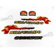 Kit Emblema Adesivo Silverado Conquest 99 Resinado Svr05