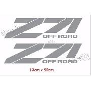Adesivo Chevrolet Z71 Off Road Prata Ofrz71c