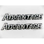 Emblema Adesivo Advantage Resinado Par Bar30
