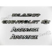 Kit Emblema Adesivo Advantage Resinado Bar032