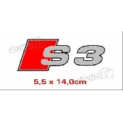 Emblema Adesivo Resinado Audi S3 Res11