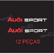 Kit Jogo Adesivo Rodas Retrovisor Maçaneta 12 Peças Aud001