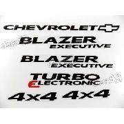 Kit Emblema Adesivo Blazer Executive 2006 4x4 Resinado