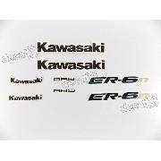 Kit Jogo Faixa Emblema Adesivo Kawasaki Er-6n 2009