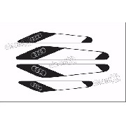 Emblema Adesivo Protetor De Porta Audi S3 Resinado Res20