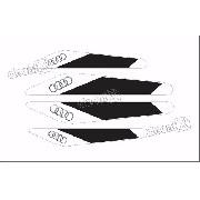 Emblema Adesivo Protetor De Porta Audi S3 Resinado Res21
