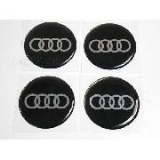 Adesivos Emblema Resinado Roda Audi 117mm Cl6