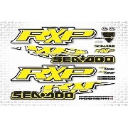 Kit Adesivo Jet Ski Sea Doo Rxp 155 Amarelo 2009 Sd6