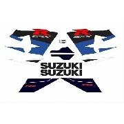 Kit Adesivos Suzuki Gsxr 750 2004 Azul E Branca 75004az