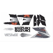 Kit Adesivo Suzuki Gsxr 1000 2003 Preta E Prata 10004cp