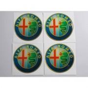 Adesivo Emblema Resinado Roda Alfa Romeo 48mm - Cl1 - Decalx