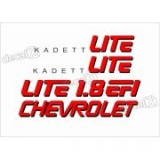 Adesivo Kit Jogo Chevrolet Kadett Lite 1.8 Efi Kdtlt1
