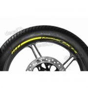 Adesivos Friso Refletivo Roda Moto Kawasaki Zx-7r Amarelo