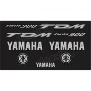 Kit Adesivo Emblema Yamaha Tdm 900 Preta Yhtdm90001