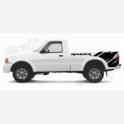Kit Adesivo Faixas Caçamba Ford Ranger Ran73