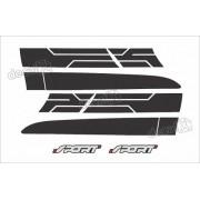 Kit Adesivo Faixas Laterais Ford Ranger Sport 2015 Rg20155