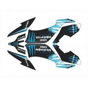 Kit Adesivo Quadriciclo Yamaha Raptor 250 2009 0,50mm 3m 016
