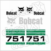 Kit Adesivos Bobcat 751 Decalx
