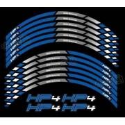 Kit Adesivos Friso Refletivo Roda Moto Bmw Hp4 Fri017 Decalx