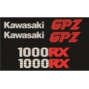 Kit Adesivos Kawasaki Gpz 1000 Rx 1986 Preta