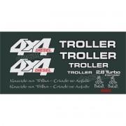 Kit Adesivos Resinados Troller 2000 Diesel Verde Trld001