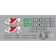 Kit Adesivos Resinados Troller 2004 Prata Trl034