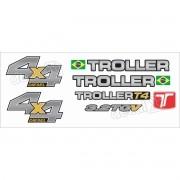 Kit Adesivos Resinados Troller 2013 Branco Trl13