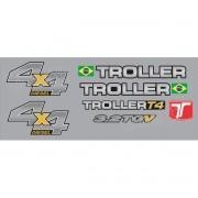 Kit Adesivos Resinados Troller 2013 Prata Trl13