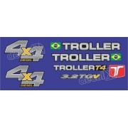 Kit Adesivos Resinados Troller 2014 Azul Trl13