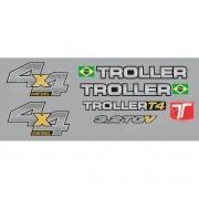 Kit Adesivos Resinados Troller 2014 Prata Trl13