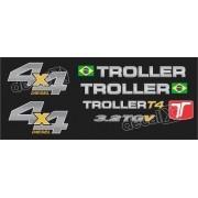 Kit Adesivos Resinados Troller 2014 Preto Trl13