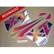 Kit Adesivos Xt225 1998 Cinza Resinado
