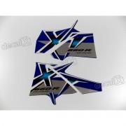 Kit Adesivos Xt 660r 2007 Azul Resinado
