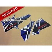 Kit Adesivos Xt 660r 2008 Azul Resinado