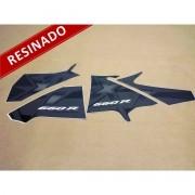 Kit Adesivos Xt 660r 2008 Preta Resinado