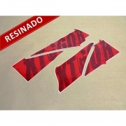 Kit Adesivos Xt 660r 2009 Vermelha Resinado