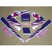 Kit Adesivos Yamaha Dt200 1992 A 1993 Branca