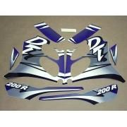 Kit Adesivos Yamaha Dt200r 2000 Azul