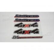 Kit Emblema Adesivo Ford Ranger Limited 3.0 4x4 Preta Rgr10p