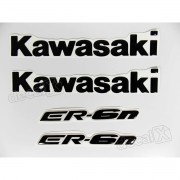 Kit Emblema Adesivo Resinado Kawasaki Er-6n re38