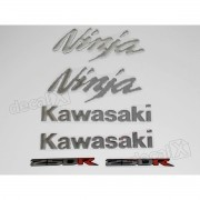 Kit Emblema Adesivo Resinado Kawasaki Ninja 250r Re47