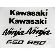 Kit Emblema Adesivo Resinado Kawasaki Ninja 650