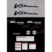 Kit Jogo Adesivo Resinado Suzuki Vstrom Dl1000 Prata Vt018