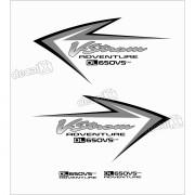 Kit Jogo Adesivo Suzuki Vstrom Dl650vs Adventure Vt023